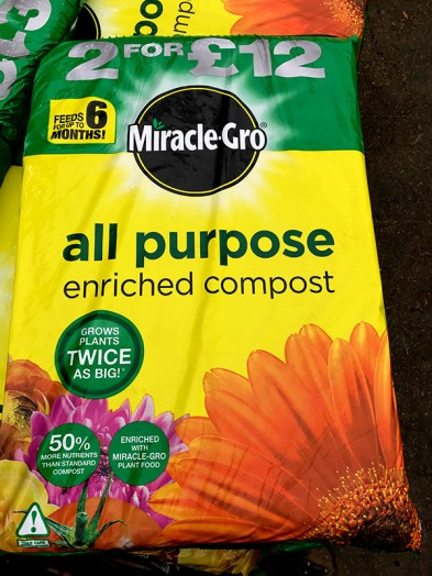 40ltr Miracle gro compost
