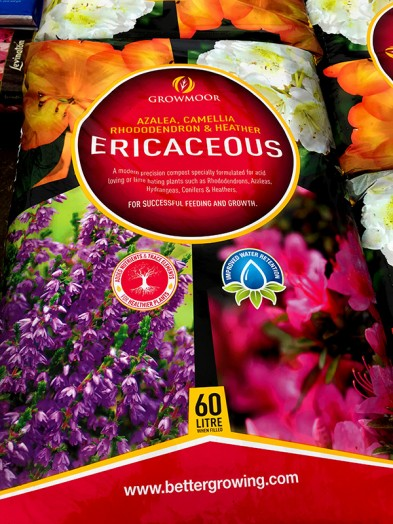 Growmoor Ericaceous (acid loving) compost 60ltr