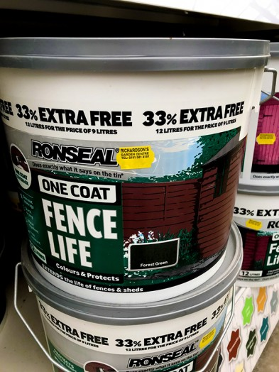 Ronseal Fencelife Paint 12ltr Forest green