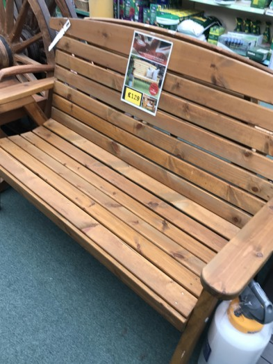Two Seat garden bench, comes flat pack