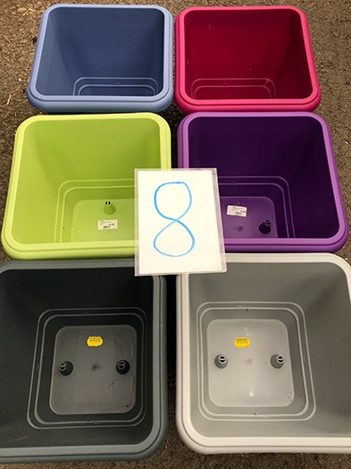 30cm Square planter colours available £4.99 each