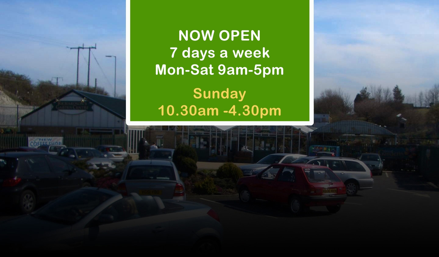 We are open again, Monday-Saturday 9am -5pm and Sunday 10.30am-4.30pm